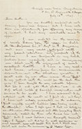 Autographs:Military Figures, [Mexican War]. Soldier Daniel Beldon Letter with Engraving....