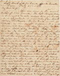 Autographs:Military Figures, [Mexican War]. Soldier's Letter....