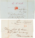 Autographs:Military Figures, [Mexican War]. Two Covers.... (Total: 2 Items)