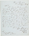 Autographs:Military Figures, [Mexican War] and [Texas Rangers]. John E. Wool Letter Signed...