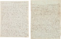 Autographs:Military Figures, [Mexican War]. Two Thomas Griffin Letters,... (Total: 2 Items)