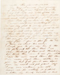 Miscellaneous:Ephemera, [Mexican War]. C.W. Porter Autograph Letter Signed....