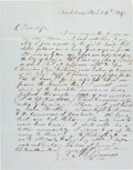 Miscellaneous:Ephemera, [Mexican War]. D.S. Edwards Autograph Letter Signed....
