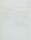 Miscellaneous:Ephemera, [Mexican War]. Request to Purchase Arms from the Army....