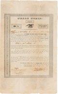 Autographs:Statesmen, [Republic of Texas Scrip]. Thomas Toby Texas Scrip Signed....
