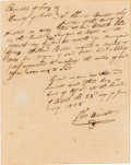 Autographs:Statesmen, [City of Austin]. Thomas Barnett Autograph Document TwiceSigned....