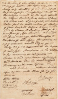 Autographs:Inventors, [Slavery]. Gail Borden Jr. and Charles Stewart Slave Bill of Sale Signed....