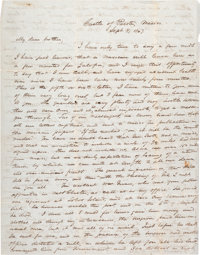 [Mexican War]. Soldier's Letter