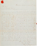 Miscellaneous:Ephemera, [Mexican War]. Captain John R. Duncan Autograph Letter Signed....
