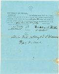 Miscellaneous:Ephemera, [Republic of Texas]. Unengrossed Head Right Grant of Land....