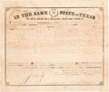 Autographs:Statesmen, [Confederate Texas]. Francis R. Lubbock Land Grant Signed...