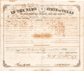 Autographs:Statesmen, [Texas Emigration and Land Company]. Hardin R. Runnels Land Grant Signed...