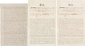 Miscellaneous:Ephemera, [Peters Colony]. Three Texas Emigration and Land Company Related Documents...