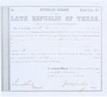 "Autographs:Military Figures, John M. Swisher Second Class ""B"" Public Debt Certificate Signed..."