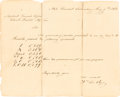 Autographs:Inventors, [Confederate Texas]. William DeRyee Autograph Document Signed with Five Related Documents....