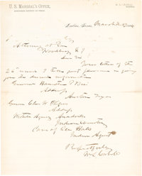 [Confederate Texas]. William L. Cabell Autograph Letter Signed