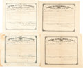 Autographs:Statesmen, [Texas Governors]. Four Signed Land Grants:... (Total: 4 Items)
