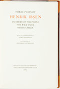 Books:Fine Press & Book Arts, [Limited Editions Club] Fredrik Matheson, illustrator. SIGNED.[Henrik Ibsen]. Three Plays of Henrik Ibsen. Limited ...