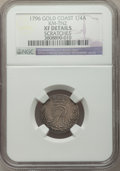 Gold Coast, Gold Coast: British Outpost 1/4 Ackey 1796 XF Details (Scratches)NGC,...