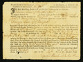 Colonial Notes:Connecticut, Fairfield, CT Court Summons November 1, 1756 Very Fine.. ...