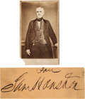 Autographs:Statesmen, Sam Houston Clipped Free Frank Signature and Carte deVisite.... (Total: 2 Items)