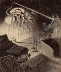 Pulp, Pulp-like, Digests, and Paperback Art, HENRIQUE ALVIM CORRÊA (Brazilian, 1876-1910). Martians BlastHouse, from The War of the Worlds, Belgium edition,190...