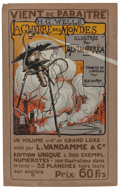 Pulp, Pulp-like, Digests, and Paperback Art, HENRIQUE ALVIM CORRÊA (Brazilian, 1876-1910). The War of theWorlds, L'Vandamme edition announcement poster, 1906. Color...