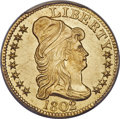 Early Half Eagles, 1802/1 $5 MS64+ PCGS. BD-8, R.4....