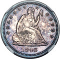Proof Seated Quarters, 1846 25C PR65 NGC....