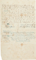 Autographs:Military Figures, [Republic of Texas]. David Garner Land Deed Signed...