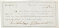 Autographs:Military Figures, [Republic of Texas]. Texian Naval Claims Receipt....