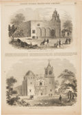 Miscellaneous:Ephemera, [The Alamo]. Four Engravings of San Antonio Missions.... (Total: 2)