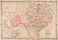 Miscellaneous:Ephemera, [Map]. Alvin Johnson and Benjamin Ward. Johnson's New Map of theState of Texas....