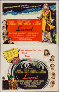 """Movie Posters:Mystery, Lured (United Artists, 1947). Half Sheets (2) (22"""" X 28"""") Styles A & B. Mystery.. ... (Total: 2 Items)"""