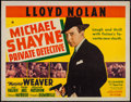 "Movie Posters:Mystery, Michael Shayne, Private Detective (20th Century Fox, 1940). Half Sheet (22"" X 28""). Mystery.. ..."