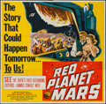 """Movie Posters:Science Fiction, Red Planet Mars (United Artists, 1952). Six Sheet (79"""" X 79""""). Science Fiction.. ..."""