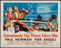 "Movie Posters:Drama, Somebody Up There Likes Me (MGM, 1956). Half Sheet (22"" X 28""). Drama.. ..."