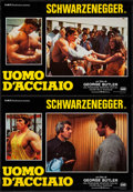 "Movie Posters:Documentary, Pumping Iron (DMV Distribuzione, 1977). Italian Photobusta Set of 4 (19"" X 26.25""). Documentary.. ... (Total: 4 Items)"