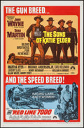 """Movie Posters:Western, The Sons of Katie Elder/Red Line 7000 Combo & Others Lot(Paramount, R-1968). One Sheets (3) (27"""" X 41""""). Western.. ...(Total: 3 Items)"""