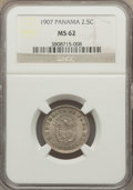 Panama, Panama: Republic 2 1/2 Centesimos 1907 MS62 NGC,...