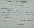 Autographs:Military Figures, [Civil War]. Limestone County: United States Oath of Amnesty....