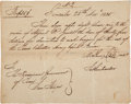 Autographs:Military Figures, [Texas Revolution]. Mathew Caldwell Document Signed....