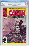 Modern Age (1980-Present):Miscellaneous, The Handbook of the Conan Universe #1 (Marvel, 1986) CGC NM/MT 9.8 White pages....