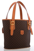 Luxury Accessories:Bags, Celine Brown Monogram Canvas Bucket Bag. ...
