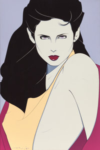 PATRICK NAGEL (American, 1945-1984) Mirage, 1982 Acrylic on canvas 36 x 23.875 in. Signed and