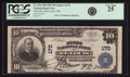 National Bank Notes:Missouri, Saint Louis, MO - $10 1902 Plain Back Fr. 624 First NB Ch. # 170PCGS Very Fine 25.. ...