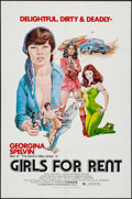 "Movie Posters:Sexploitation, Girls for Rent (Independent International Pictures, 1974). OneSheet (27"" X 41""). Sexploitation.. ..."