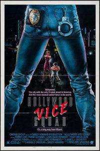 """Hollywood Vice Squad (Cinema Group, 1986). One Sheets (2) (27"""" X 41"""") Flat Folded Style A & B. Comedy..."""