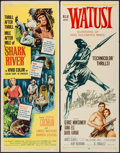 "Movie Posters:Adventure, Shark River & Other Lot (United Artists, 1953). Inserts (2)(14"" X 36""). Adventure.. ... (Total: 2 Items)"