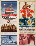 "Movie Posters:War, This is Your Army & Other Lot (20th Century Fox, 1954). Inserts(2) (14"" X 36""). War.. ... (Total: 2 Items)"